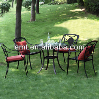 Metal ourdoor furniture set for star hotel 2013/garden furniture(EMT-3185C&6001DT)