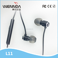 Wired stereo in-ear headphone Sports Earbuds Factory Wholesale (Wennda L11)