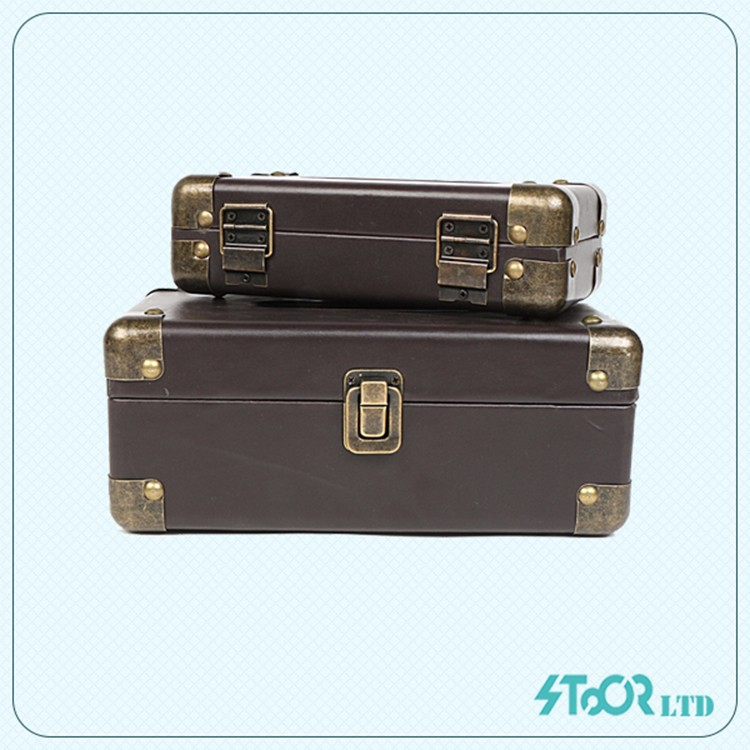 old style mdf aluminum skin customize diy metal brown tissue box cover