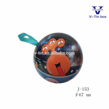 Christmas ball shape candy metal tin cans