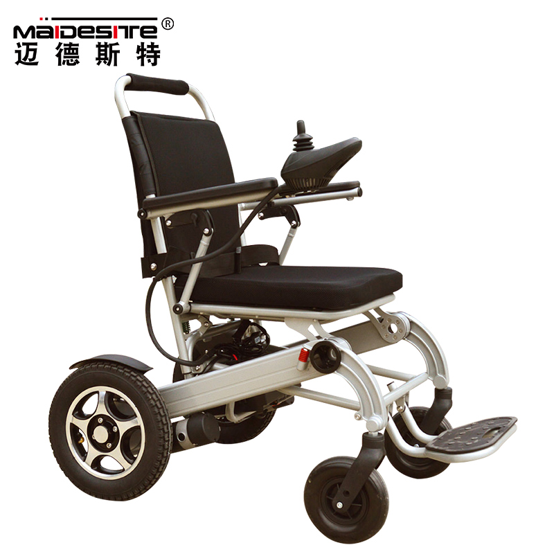 Cheap price light weight foldable aluminum electric wheelchair