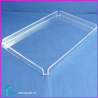 Wholesale Clear Acrylic Lucite Butler Tray/Acrylic Cooling Tray for Food