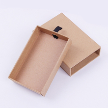 Hot gold custom kraft paper tea packaging box kraft gift drawer box with sleeve for tea