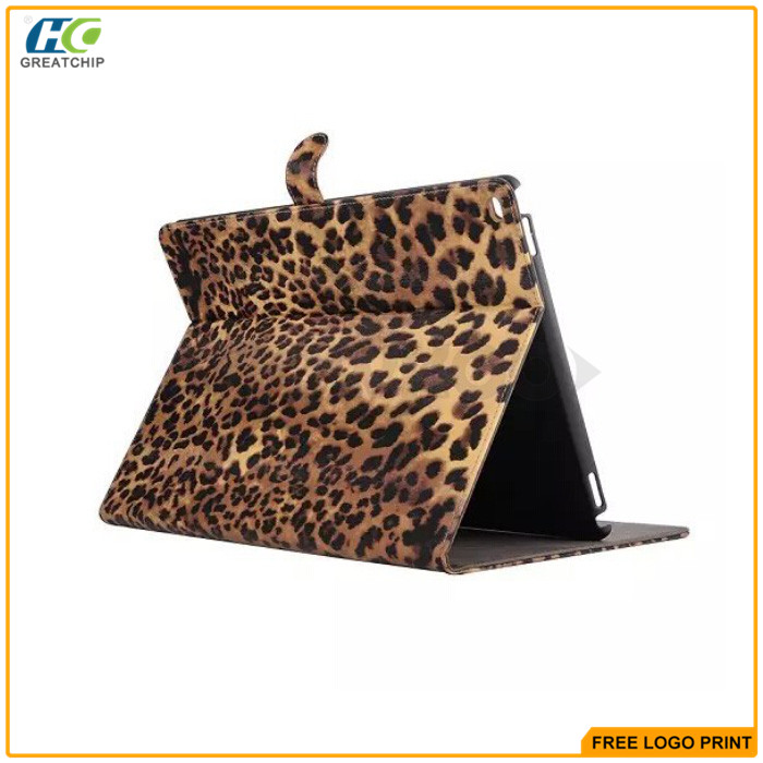 Luxury Classic Sexy Leopard PU Leather Stand Cases for iPad Pro