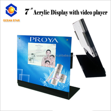 <strong>Advertising</strong> and promotion acrylic video display