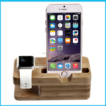 FL3621 wooden desktop for apple watch charging stand, stand Charger Holder for apple watch and phone charging dock