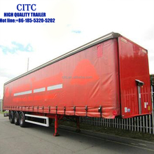 used stock tarpaulin box semi truck trailers with high quality