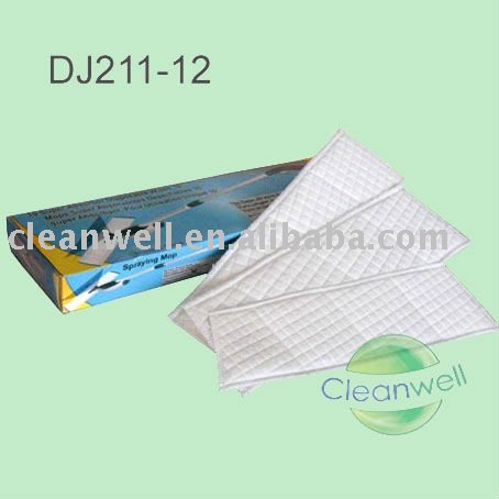 Disposable dry floor non-woven mop wipes