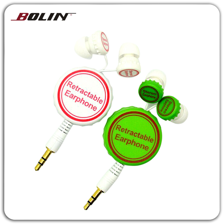 Beer Cap Flexible Cable In Ear Eerphones For All MP3,MP4 Players