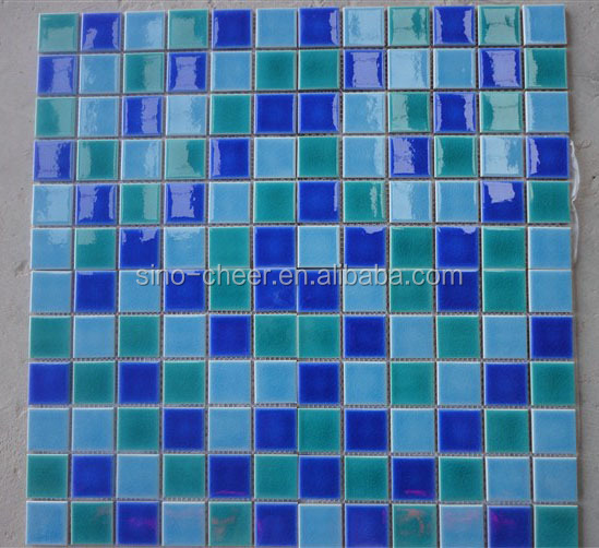 mix style selections square artistic ceramic pool mosaics pattern