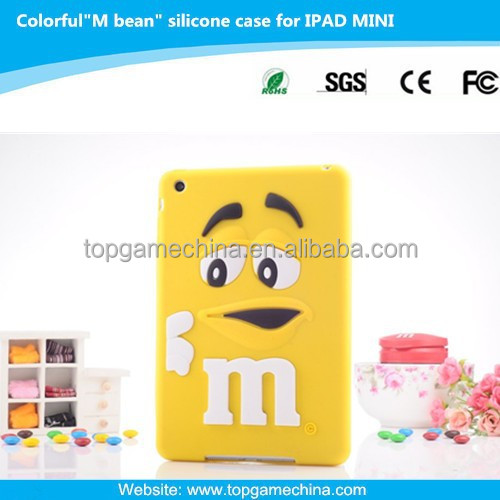 3D silicone case for iPad mini funny case
