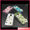 3D Flower soft jelly TPU back cover case for Samsung galaxy S5 mini cellphone case