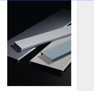 Factory Customized building design materials office usage metal ceilings aluminum C-shape linear ceiling