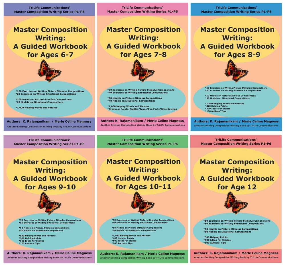 Primaries 1 to 6 Composition Writing E-Workbooks with Models