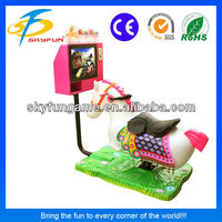 Best selling electronic game Golden horse coin operated car ride