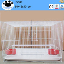 White Color 60x40x40 cm Metal Breeding Canary Bird Cages