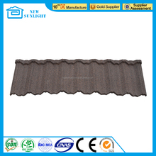 CE Certificate red color stone coated steel roof tile/aluminum stone coated metal roofing sheet