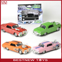 2015 newest 1:43 Diecast model car pull back vintage car toy for kids