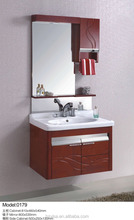 Oem manufacturer wood cabinet with basin bathroom vanity