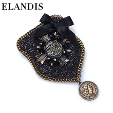 Blooming Flower Style With Black Stones Alloy Brooch