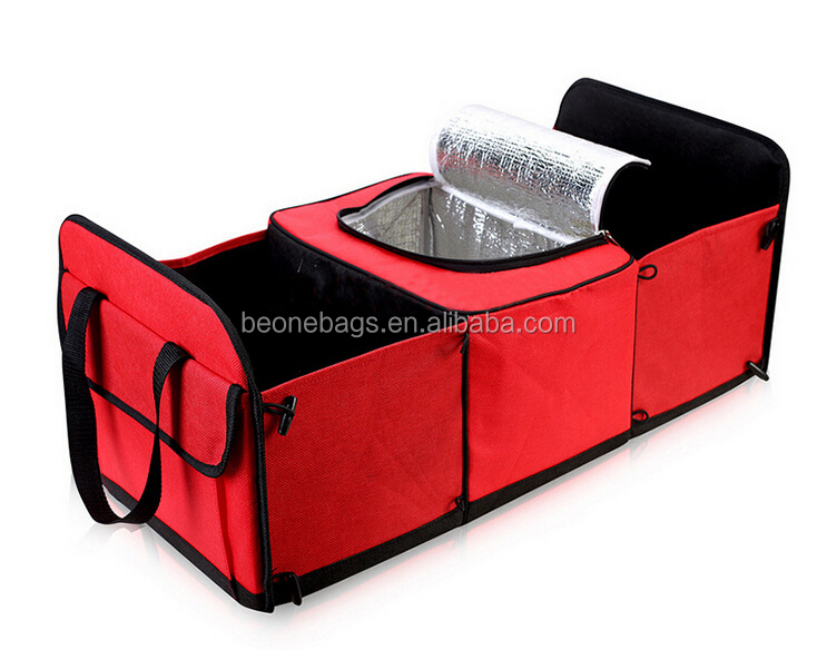 Foldable Food and Drinks Storage Cooler Bag Car Trunk Organizer