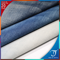 75% cotton 25% polyester denim fabric 10.5 oZ denim shirting fabric