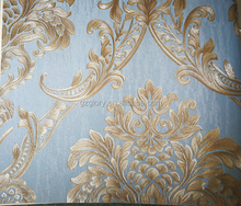Luxury European 3D Damask Wallpaper For Walls Decor Modern Wall Paper For Bedroom Living Room Background