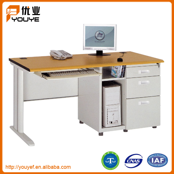 Finely processed stainless steel computer table made in China