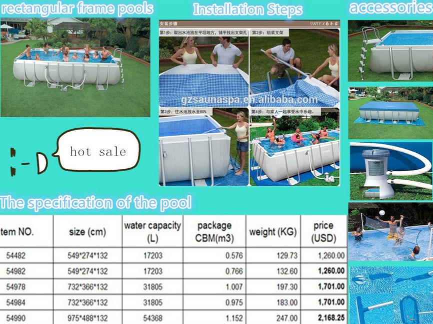 Rectangular Above Ground Swimming Pool Best Price Buy Rectangular Swimming Pool Above Ground