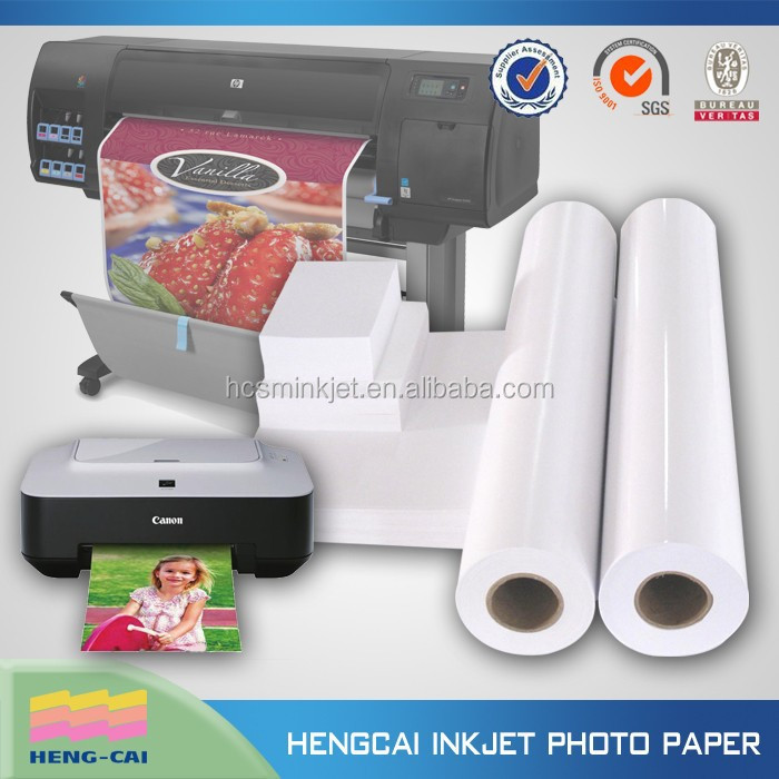 RC inkjet high glossy photo paper