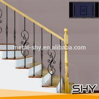 Wrought Iron Indoor Stair Rail Design For Home Decoration