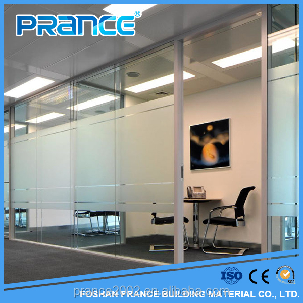 Discipline new design fashionable sitting room glass partition wall