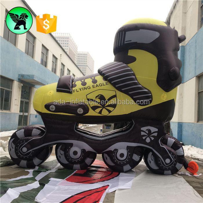 13ft / 4m High Replica Customized Inflatable Shoes Giant Advertising Inflatable Roller Skate A2017