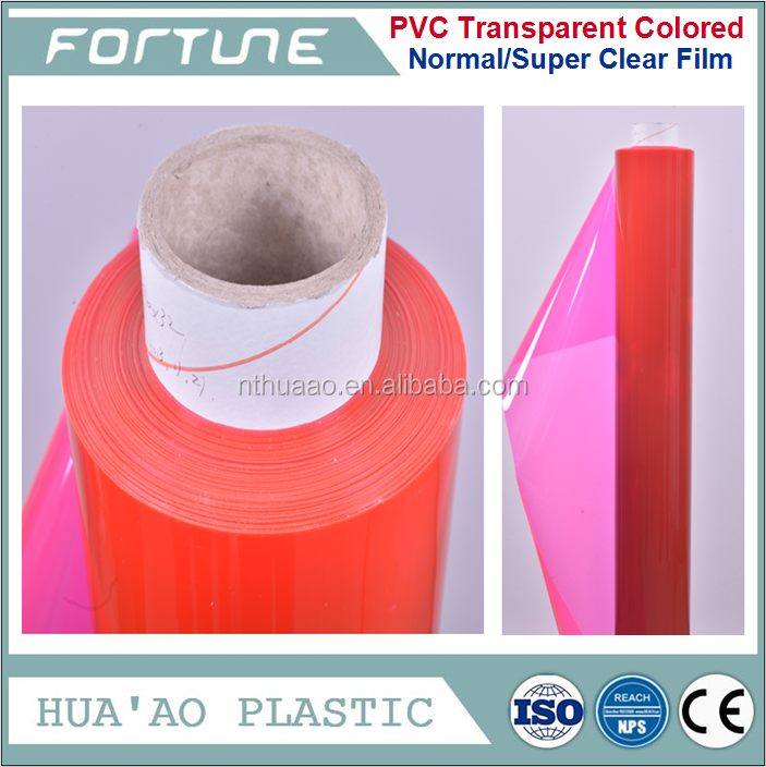 PVC color transparent translucence film for crafts packing