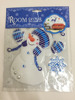 Snowman Room Decor Wall Decals 3D Christmas Stickers