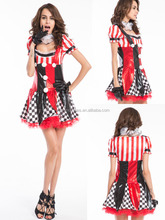 Instyles sexy circus costume s-2xl del tamaño extra grande