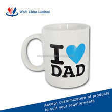 2016 direct manufacturer cheap ceramics tea cups for fathers day gifts(WSY1345N)