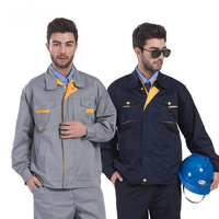 China Factory 2 Piece Latest Design Men Working Uniform Cotton Coveralls for Auto with Full Sleeved