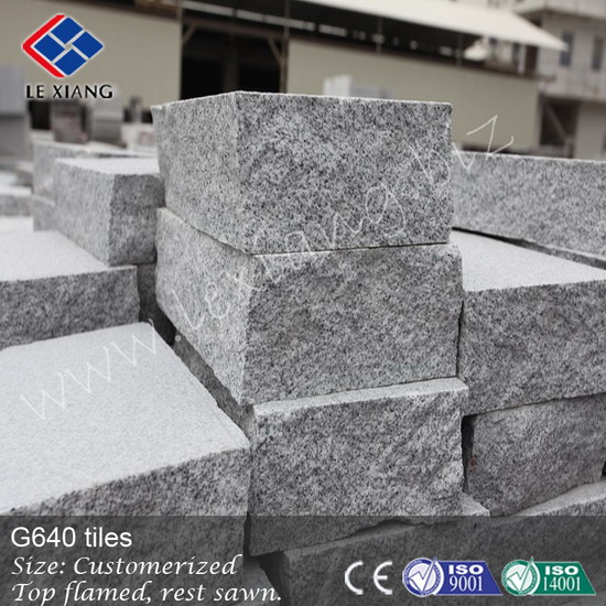 G640 grey granite wall stone blocks