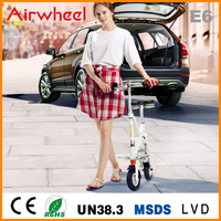 Newest Airwheel E6 8inch tyre small folding electric bicycle with bluetooth WIFI App