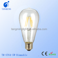 2016 new product ST64 led edison lamp 4W 6W 8W bulb 110V 220V Ampoules led filament