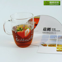 wholesale customize high quality borosilicate glass frozen drink glass cups milkshake cup