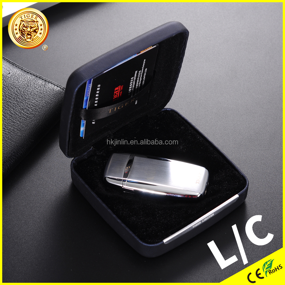 2017 New Design Tiger JL-04 Multifunction Wholesale Windproof Lighter Cigarette OEM Logo Rechargeable Lighter