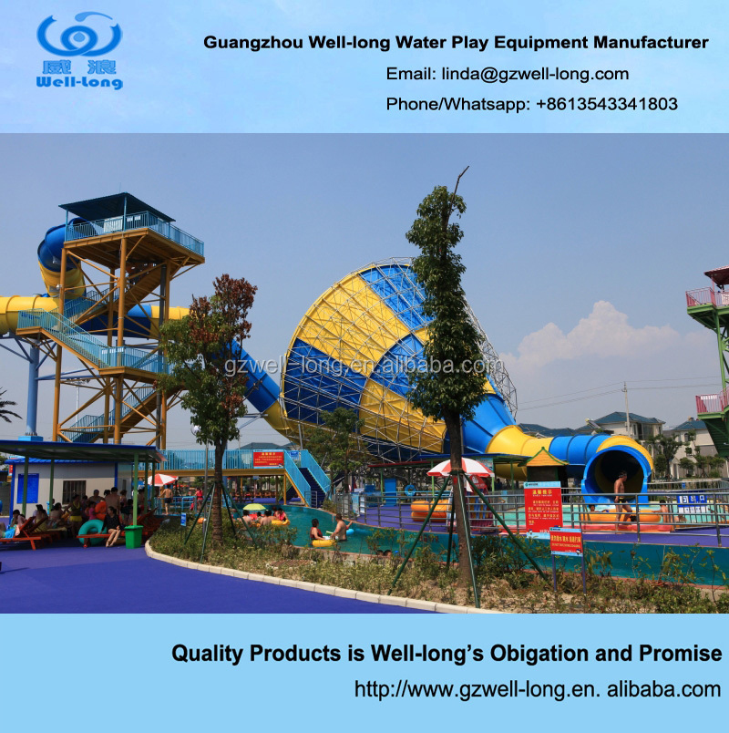 Outdoor water amusement park equipment big adult water <strong>slides</strong> for sale
