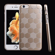 OEM Newest Luxury Metal Finish PC Hard Shell Customize Mobile Phone Cover for iPhone7 Case