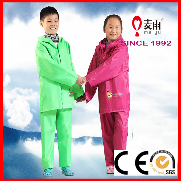high quality hot sale reusable clear children raincoat