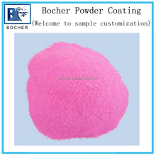 Pink thermosetting powder coating powder