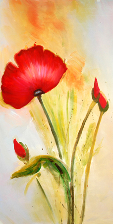 04HTY(24) Hot Abstract Modern Flower Paintings Famous Artists