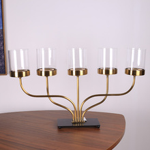 4051 Luxury home decor 5 arms metal candelabra candle stand candle hodler candlestick