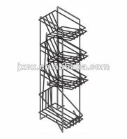 MED5208 wire 4 basket magazine rack